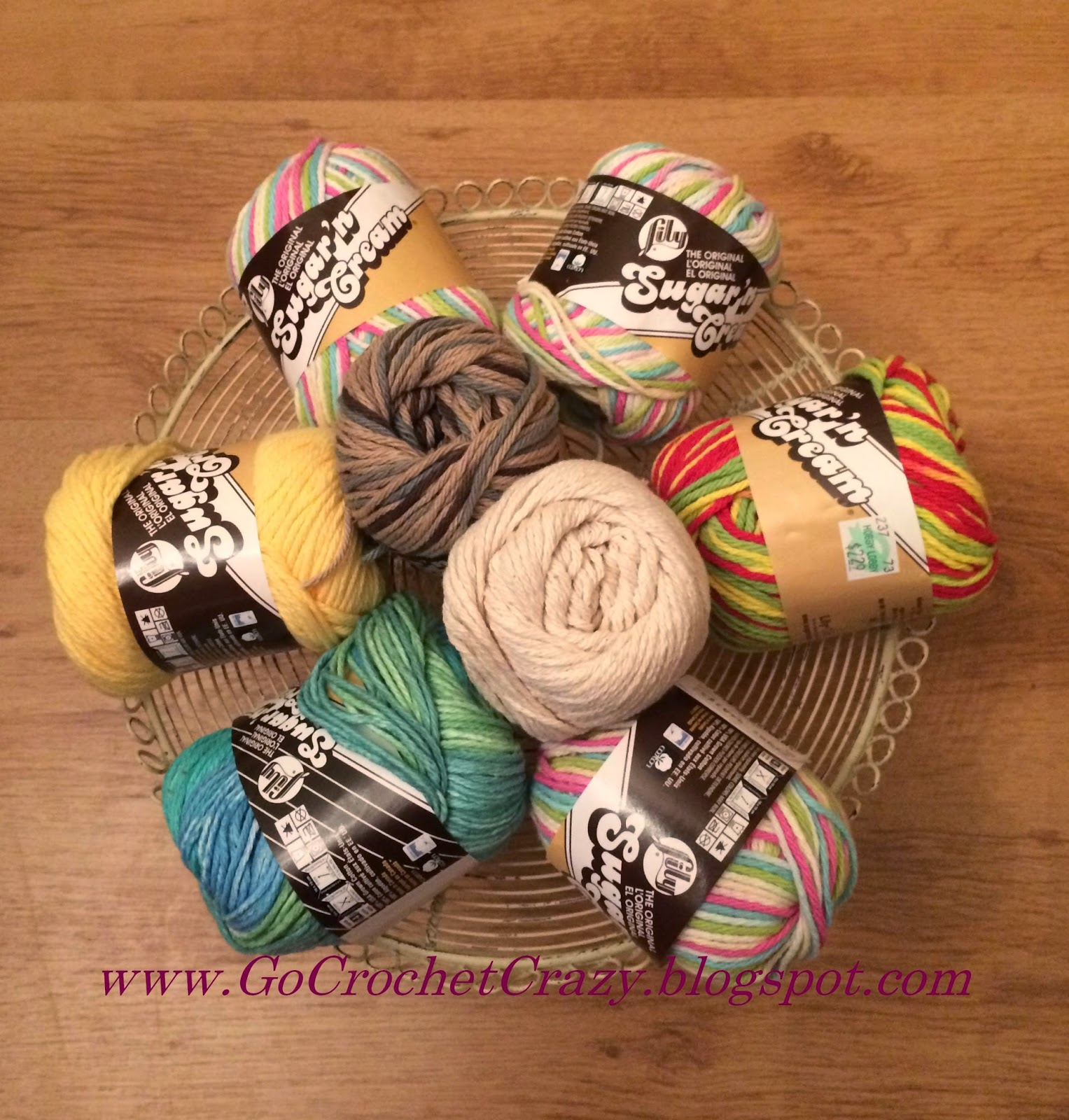 Cotton yarn is perfect for springtime projects such as baby bonnets and spa cloths.