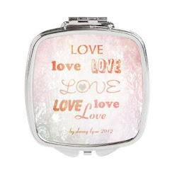 Love Light Square Compact Mirror