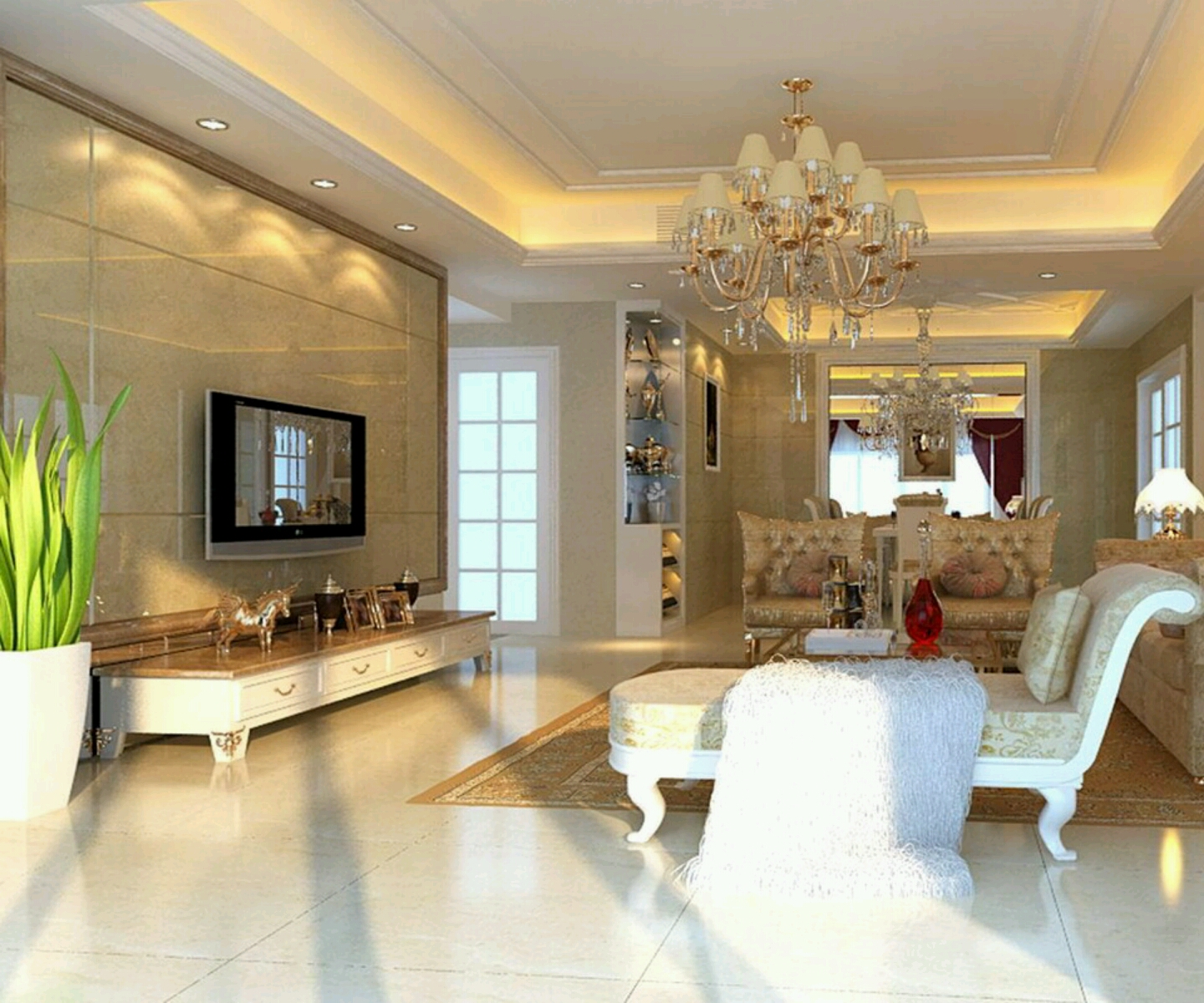 Luxury homes interior decoration living room designs ideas. title=