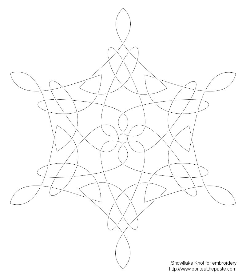 Dont Eat The Paste Snowflake Knot Embroidery Pattern