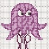 angry drunk jelly fish cross stitch chart