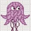 angry drunk jelly fish cross stitch chart