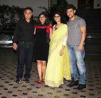 Aamir & Kiran at Mansoor Khan's wedding anniversary celebration