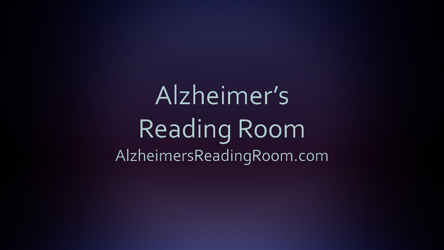 Alzheiemr's Reading Room