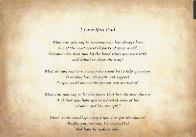 Father's Day Poem Picture
