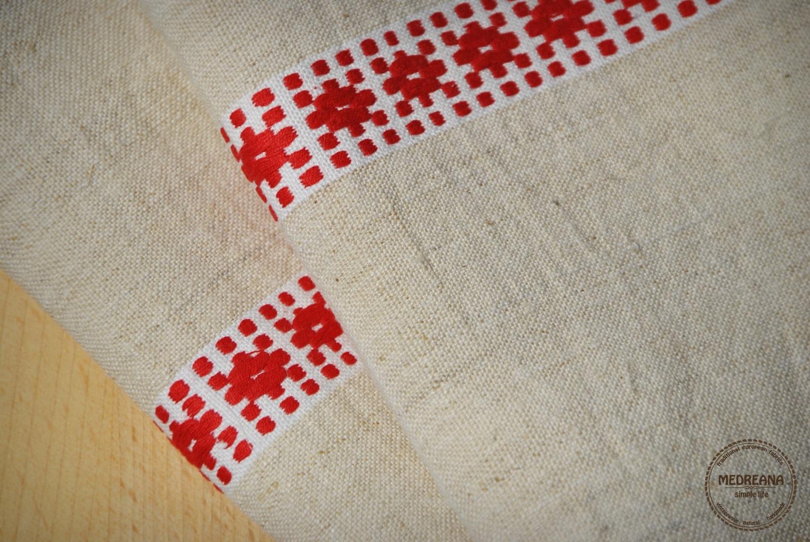 Medreana Set Of 2 Vintage Kitchen Towels Red Decor Stripes