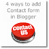 4 ways to add Contact Form to Blogger blogs