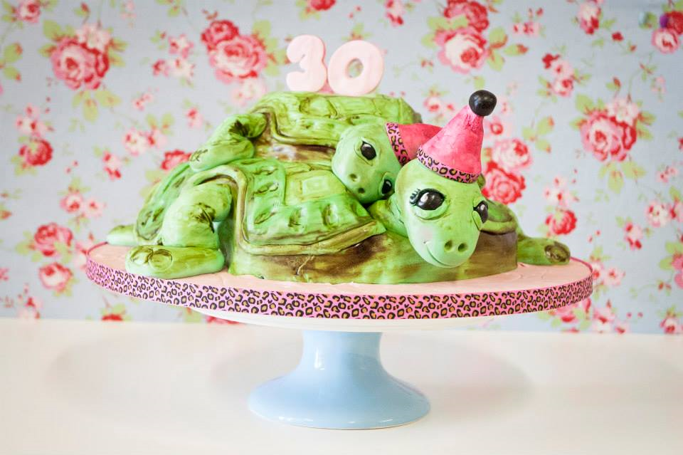 Turtle 30th Birthday Cake
