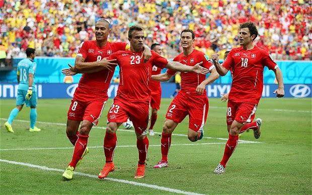 Skor Telak 3-0 untuk Swis vs Honduras