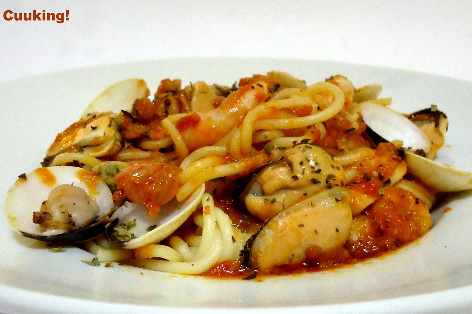 Spaghetti frutti di mare | Cuuking! Recetas de cocina