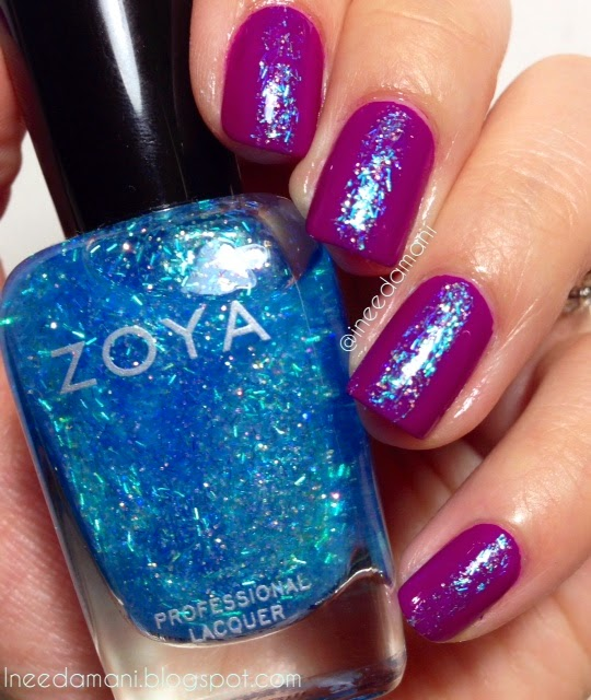 zoya mosheen glitter stripe nails