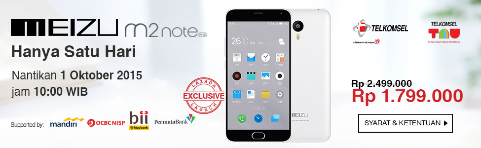 Flash Sale Meizu M2 Note Lazada Hari Ini