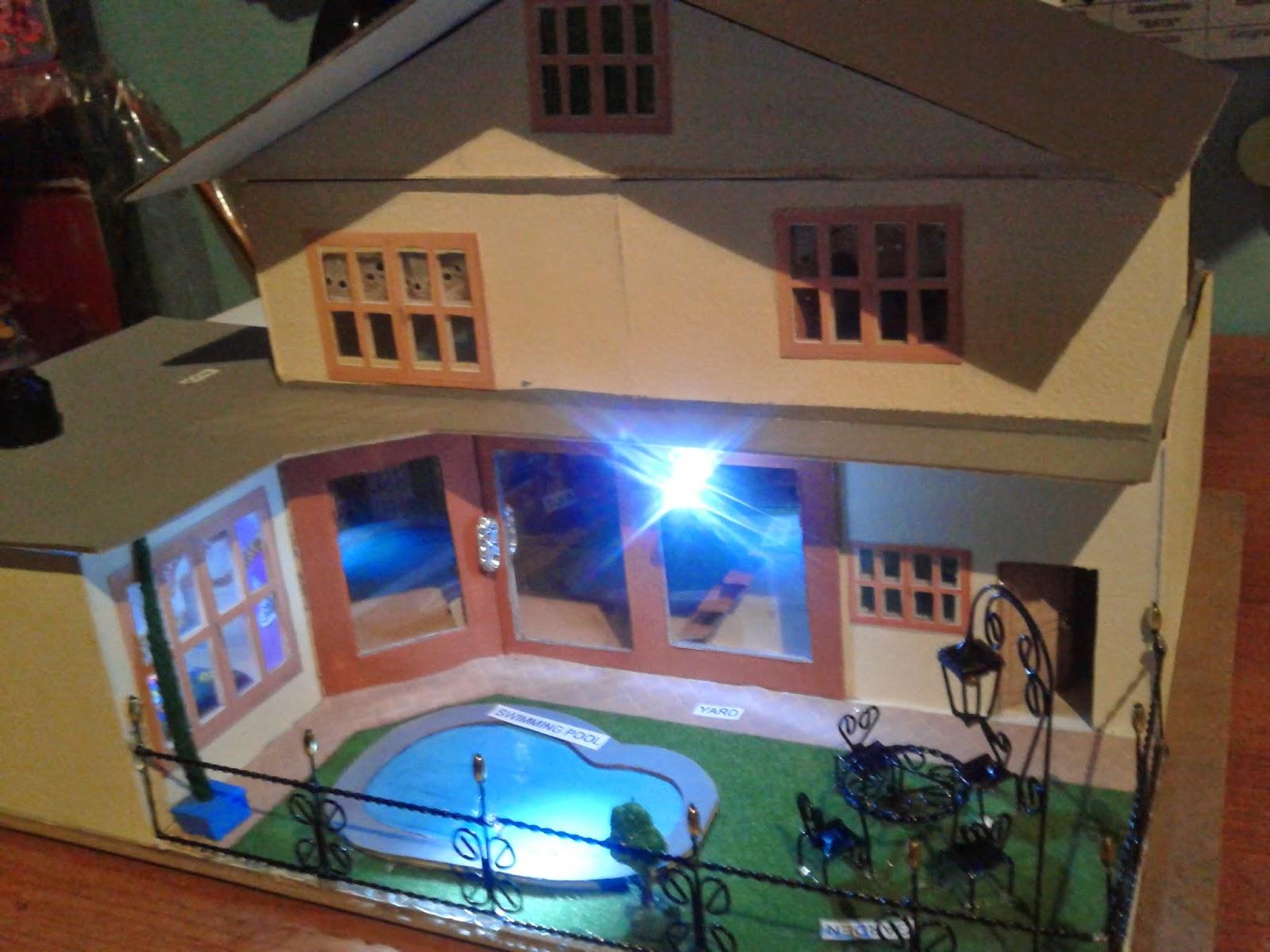 Proyectos ocios y m s como hacer una maqueta de casa con for Casas bonitas con alberca y jardin