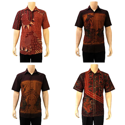 Model batik formal hem