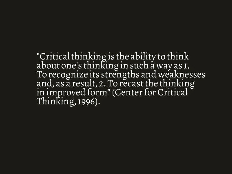 what is a critical thinking activity