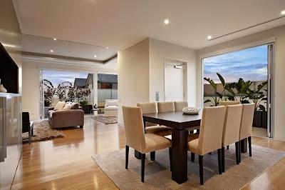 Casas minimalistas y modernas living comedor minimalista i for Comedores integrados