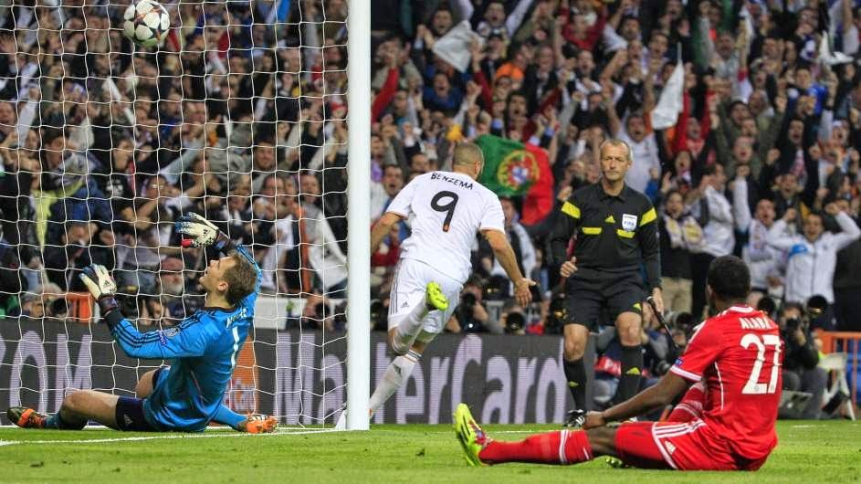 Benzema marcó el gol de la victoria ante el Bayern