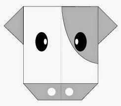 Bước 9: Vẽ mắt, vẽ mũi để hoàn thành cách gấp mặt con bò bằng giấy origami.