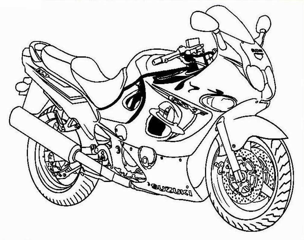 10 Mewarnai Gambar Motor Balap Bonikids
