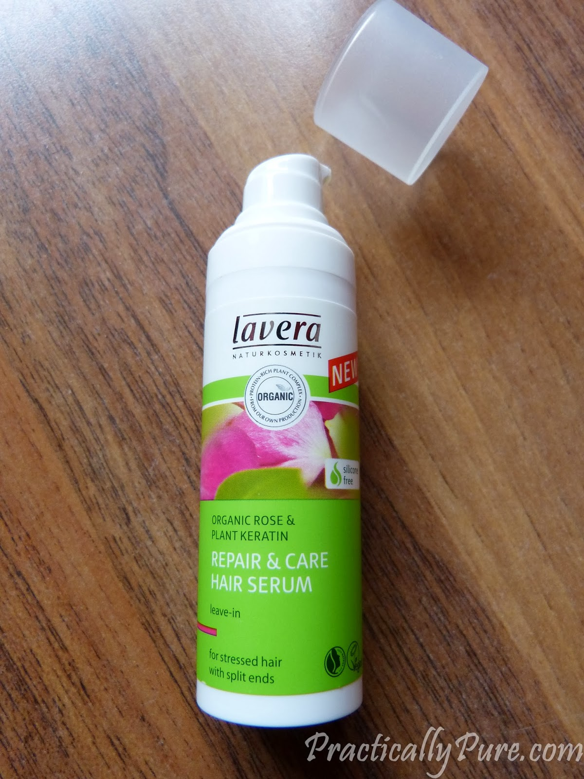 Lavera repair and care hair serum