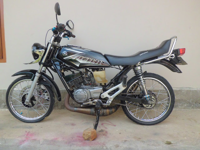 modifikasi motor king warna hitam
