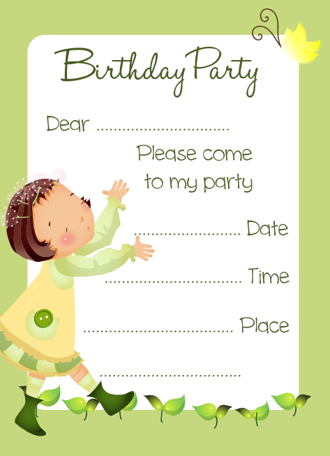 Birthday Invitations - Birthday invitation cards tumblr