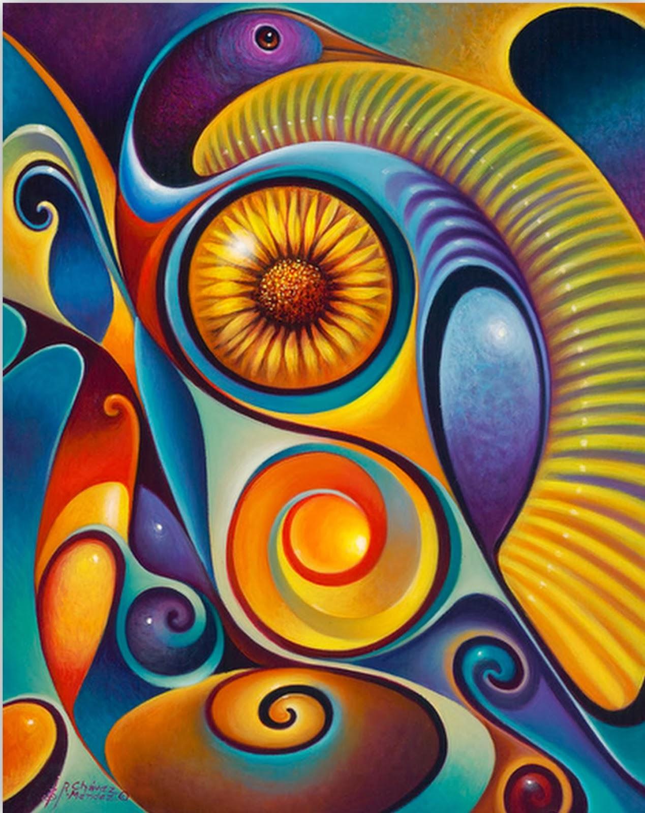 Im genes arte pinturas pinturas modernas al leo ricardo - Cuadros modernos con mucho color ...