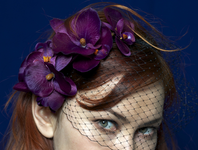 DIY-sexy Lana del Rey inspired orchid crown with veil