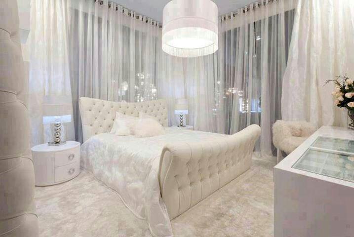 اجمل غرف نوم باللون الابيض