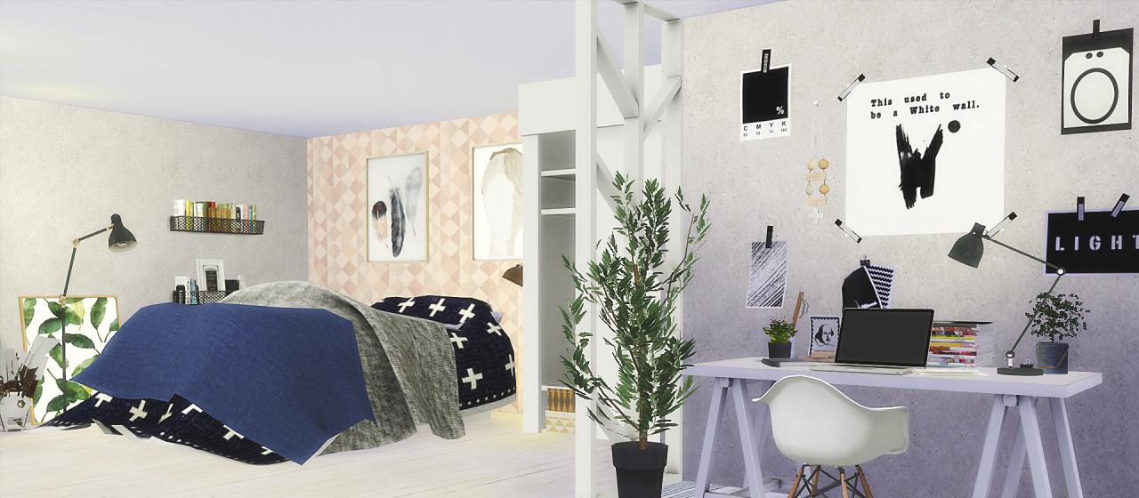 My Sims 4 Blog Ts2 Leehee Curio Bedroom Set Conversion By