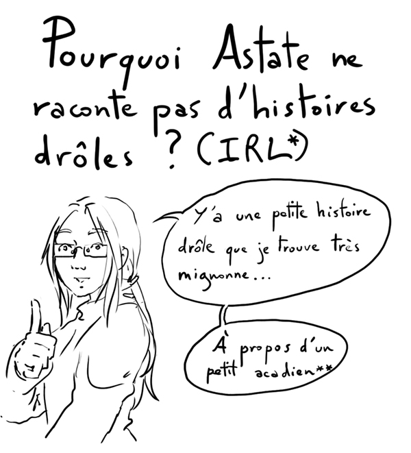 blague acadienne - BD question du jeudi