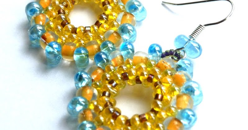 art, crafts and beads: Free Tutorial - Earrings JOY with Preciosa