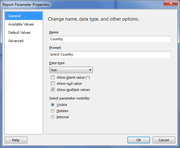 ssrs unchecked some values by default from