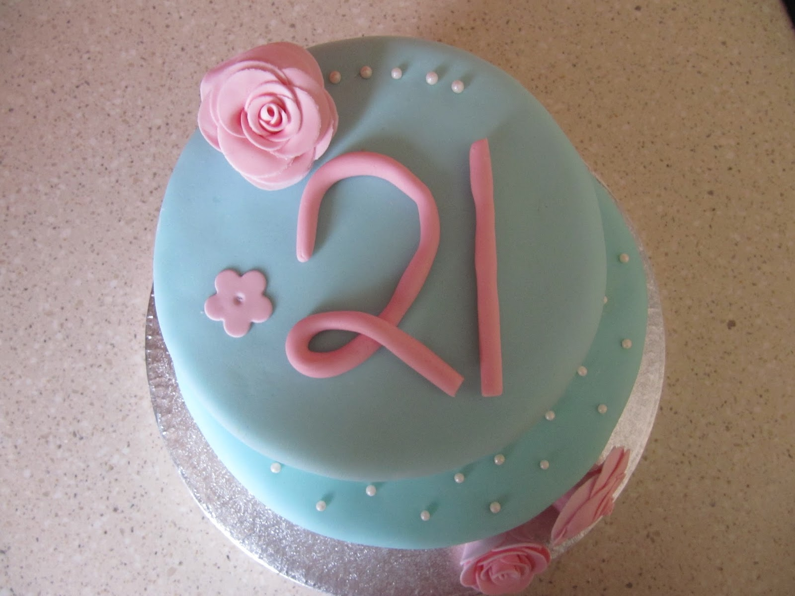 Sweet And Simple Baking Simple 21st Birthday Cake With Roses