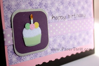 Mini cupcake birthday greeting card