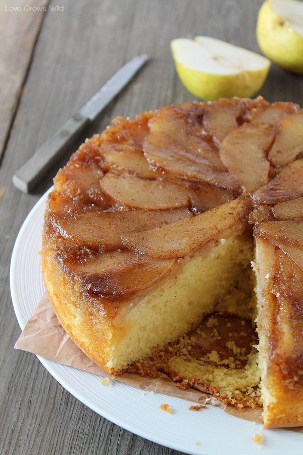 Spiced Pear Upside Down Cake