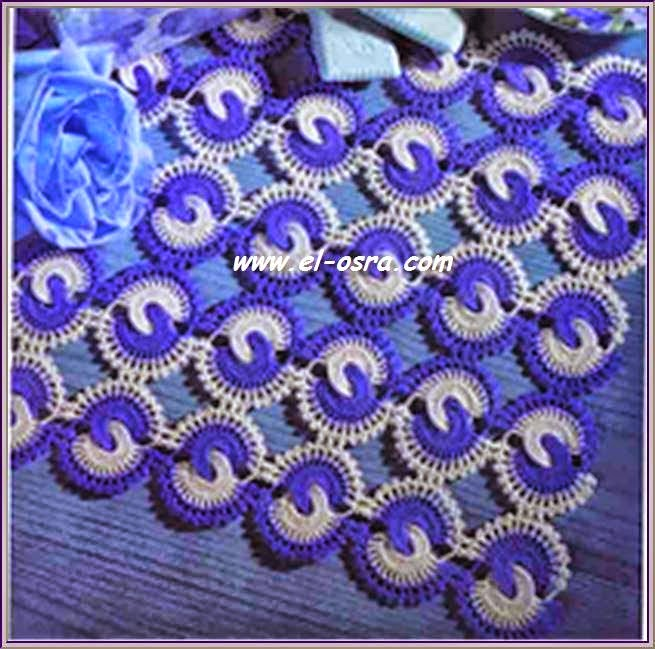 Círculos entrelazados al crochet