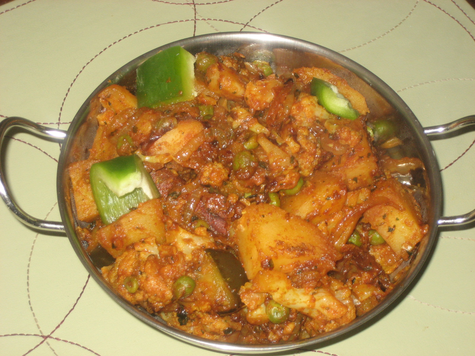 Hot N Steamy Food: Aloo Gobi(Cauliflower Potato Masala)