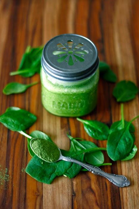 grüner Spinat-Smoothie