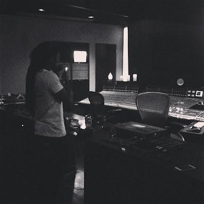 fotos de lil wayne y mike banger en el estudio karrine
