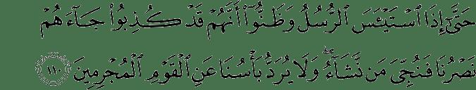 Surat Yusuf Ayat 110