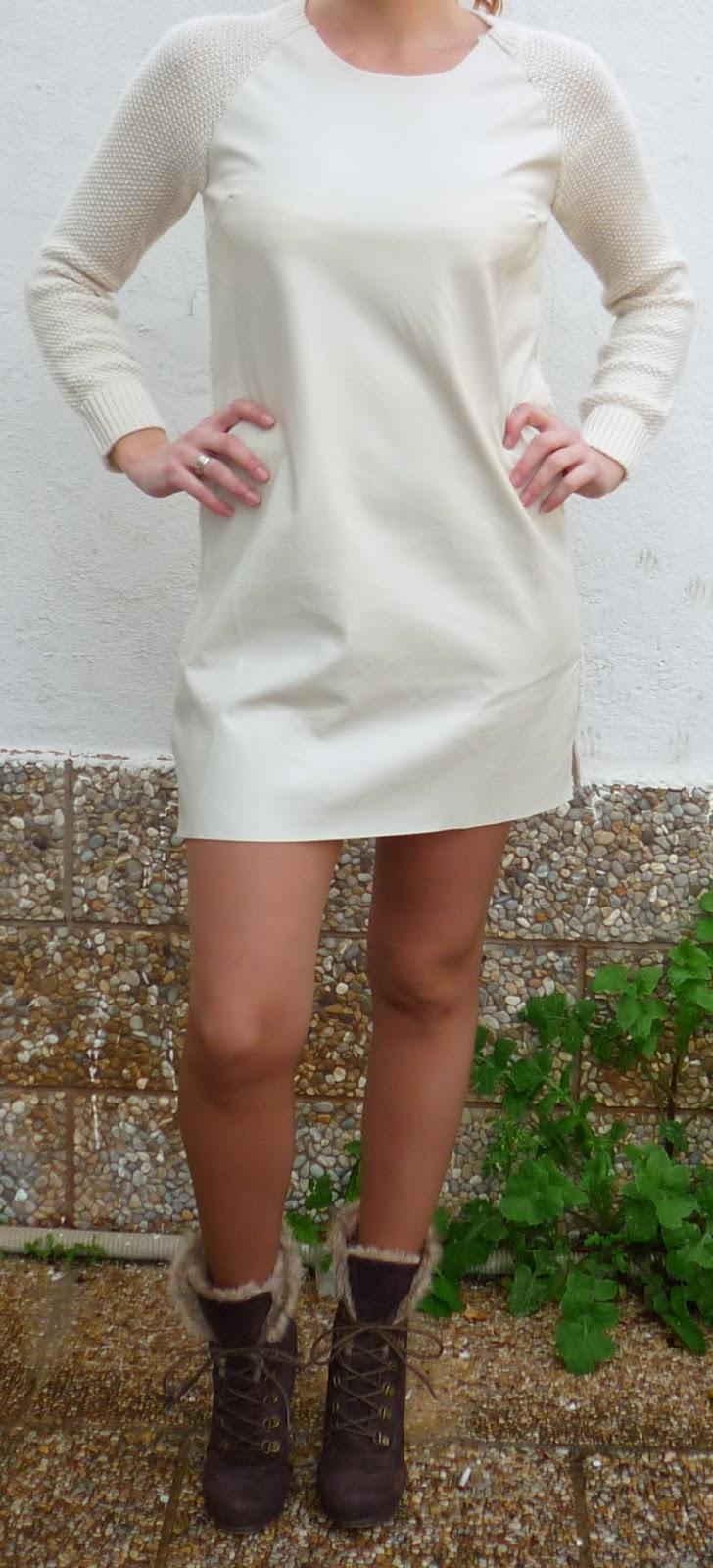vestido blanco cuero