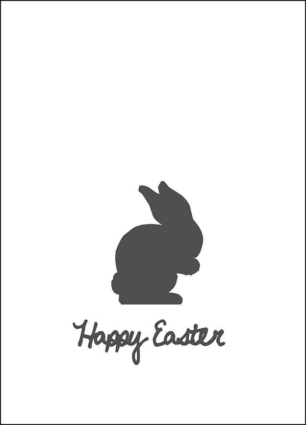 Grafik Osterhase Easter-Bunny Happy Easter