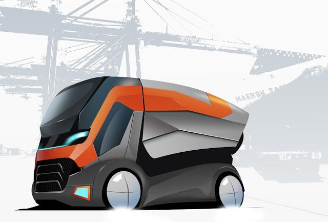 Магистральный контейнеровоз. Дизайн грузовика.