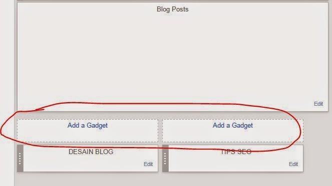 Cara Menambah Dua Kolom Widget di Bawah Posting Halaman Depan