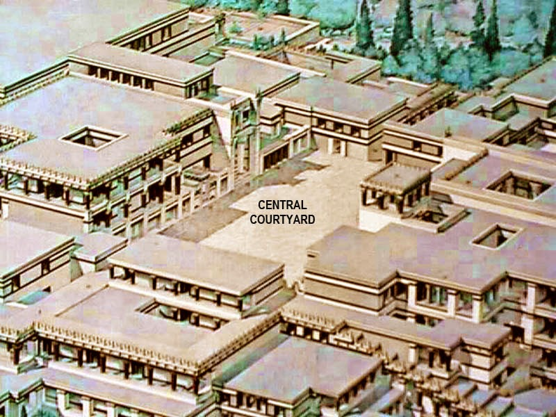 minoan palaces knossos The minoan palace at knossos is the largest of all minoan palaces, measuring 500 feet (156 m) by 500 feet (156 m) and covering over 5 acres the plan of the palace.