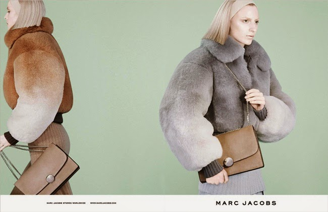 Marc Jacobs 2014 AW Color Degrade Fox Cropped Bomber Jacket Editorials