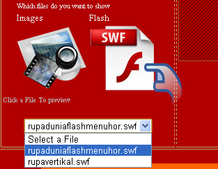 Cara buat dan pasang menu Flash Keren