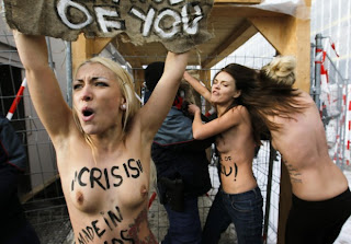 Topless Protesters