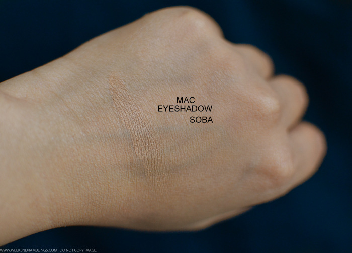 MAC Soba Eyeshadow Photos Swatches Review FOTD EOTD Makeup Looks Indian Beauty Blog
